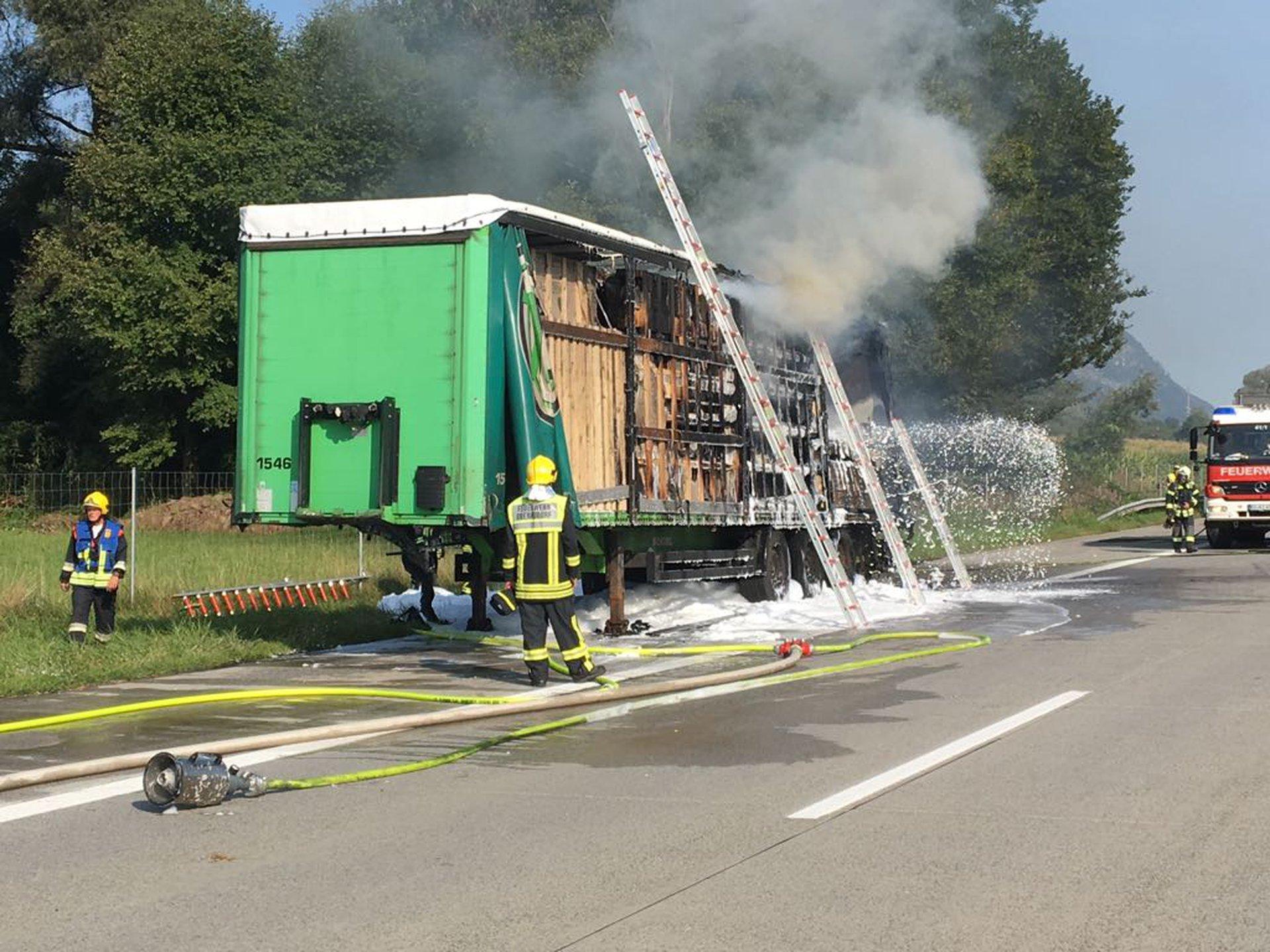 Freiwillige Feuerwehr Oberaudorf Brand Lkw